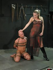 Malesub tied, smothered and forced to fuck
