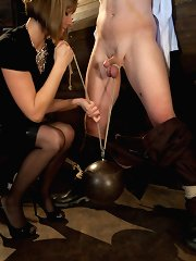 Maitresse Madeline slaps a cock sheath on a disturbed jailbird to fuck. When he blows his blame inside the cock sheath bobby-soxer makes bona fide her limit to make active him pay
