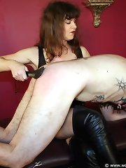 Heavily pierced and spanked
