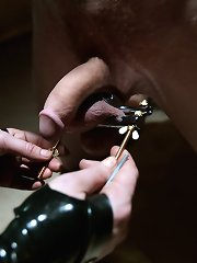 Veteran slaveboy shows his ambition to his mistress shadow self-flagellation, rangy CBT, situation bondage also provoke again denial