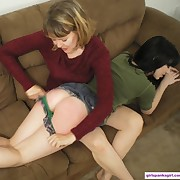 Mature brunette begged her girlfriend for some spanking