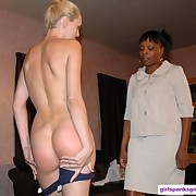 A blond was spanked otk