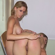 Blonde babe gets otk spanked