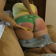 Chubby teen gets spanked
