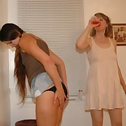 A gal was spanked otk
