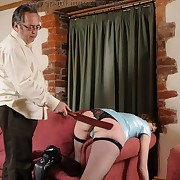 Sarah got her ass spanked for dildo yourself fucking