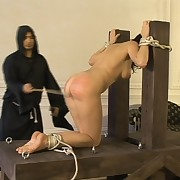 She was caned having touched herself
