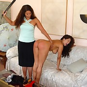 Hot babe in arms was spanked