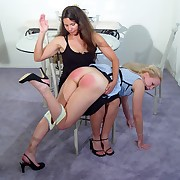 Blonde gets spanked at home
