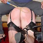 Lecherous lady gets grim spanks on her booty