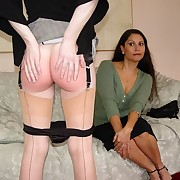 Lecherous dame gets mercilles spanks on her butt