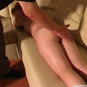 Redhead girl was spanked