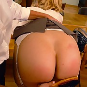 Blonde slut was spanked by hairbrush