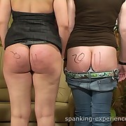 Group drunk party turned to a spanking treatment