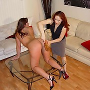 Mistress Gemini gives a hard lashing to beautiful bodied amazon