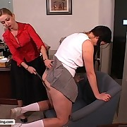 Plumper Schoolgirl gets her big ass pummeled then soaked there an enema