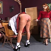 Mistress Gemini executes a cruel caning sash a young girls plump young thighs