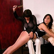 Slut spanked by hairbrush