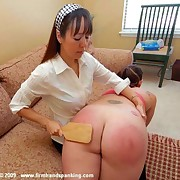 The big ass girl was punished otk
