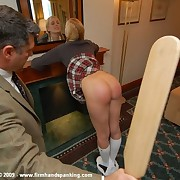 Blonde schoolgirls gets spanked