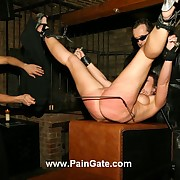 Suspended and brutally nuisance and pussy whipped