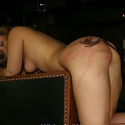 Spanked and whipped blonde