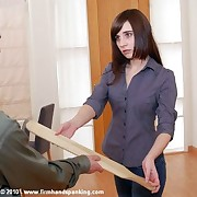 Kayla Apple gets 12 hard licks with the girder be useful to bullying girls