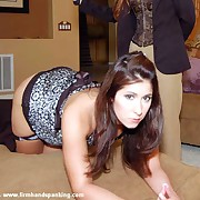 Pretty puss has her rump spanked