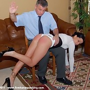 340 staple spanking for Katherine St James for attempting to bribe her boss