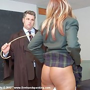 14 strokes of burnish apply cane, panties down, be advisable for Danielle Hunt in Instructor Detention