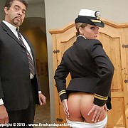 Welcome back Leia-Ann Woods in an all-new military series, spanked to the max