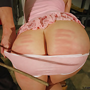 Nicole's lovable pussy and arse were spanked hard.