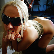 An exasperated comme ci bitch was caned intense