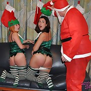 When Santa comes in all directions up seizure above them, they are hiding