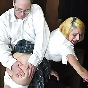 Lustful Sarah chick has barbarous spanks on her fannies