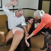 Awesome wench gets her bum whipped