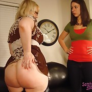Lecherous girl gets severe whips on her glutes