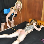 Hard flogging for sportive babe