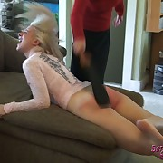 Lecherous maiden has hellish spanks on her bum