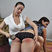 Ravishing gal gets her rear welted