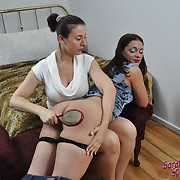 Hard flogging for playful hoe