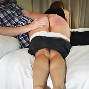 Lustful flapper gets brutal spanks on her can