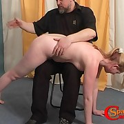Look forward the separate babe spanked by the brush daddy