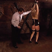 Dark bdsm room Spanking and tying from Eastern Europe