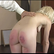 Strict office enforcement for a hot blonde girl