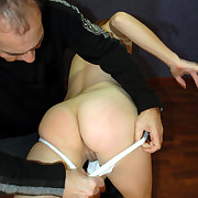 Hot honey hard otk spanked