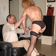 Wife gets spanked otk