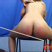 Salacious soubrette has severe whips on her bottom