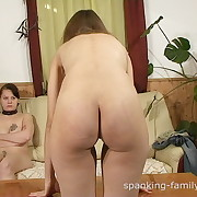 Stunning skirt gets her buttocks flagellated
