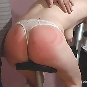 Filthy femme gets grim spanks on her can